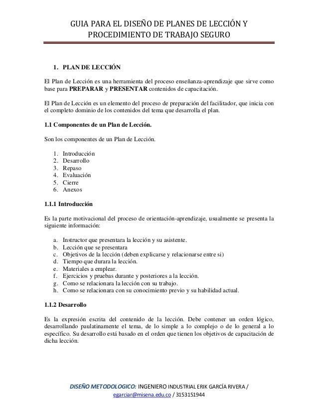 guias para procedimientos de trabajo seguro