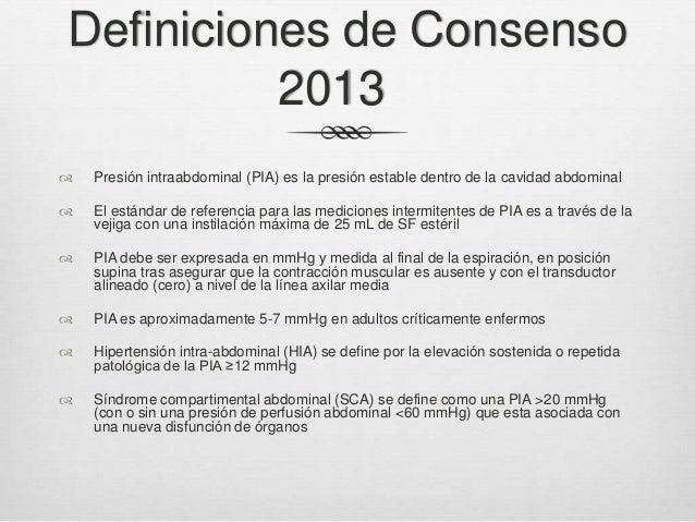 Definiciones de Consenso 2013 (II)   HIA se clasifica en grados      Grado I: Grado II: Grado III: Grado IV:  PIA 12-...