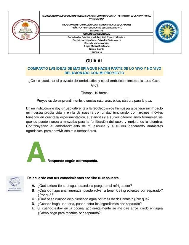 ESCUELA NORMAL SUPERIOR DEVILLAVICENCIO EN CONVENIOCON LA INSTITUCION EDUCATIVA RURAL VANGUARDIA PROGRAMA DEFORMACIÓN COMP...