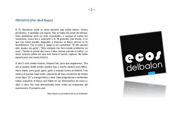 GUIA TACTICA DEL BARCELONA F.C 2011 - 2012 Slide 2