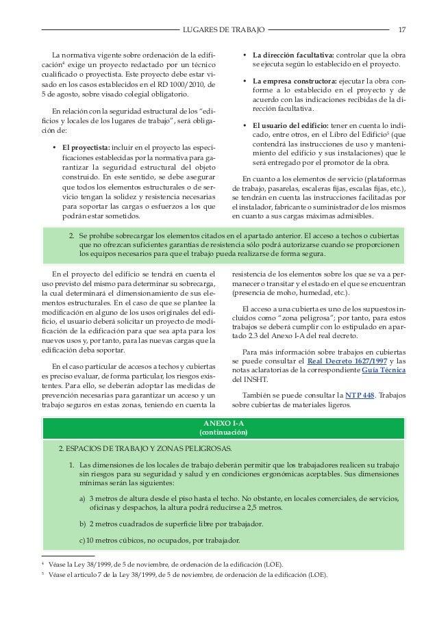 Gu a t cnica para la evaluaci n y prevenci n de los for Trabajos por debajo de la mesa