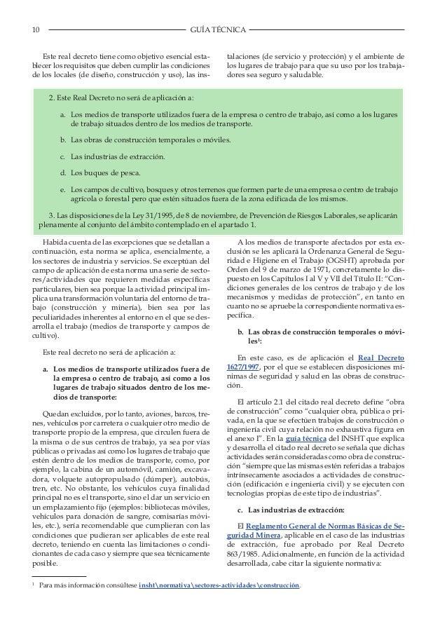 Guía técnica para la evaluación y prevención de los