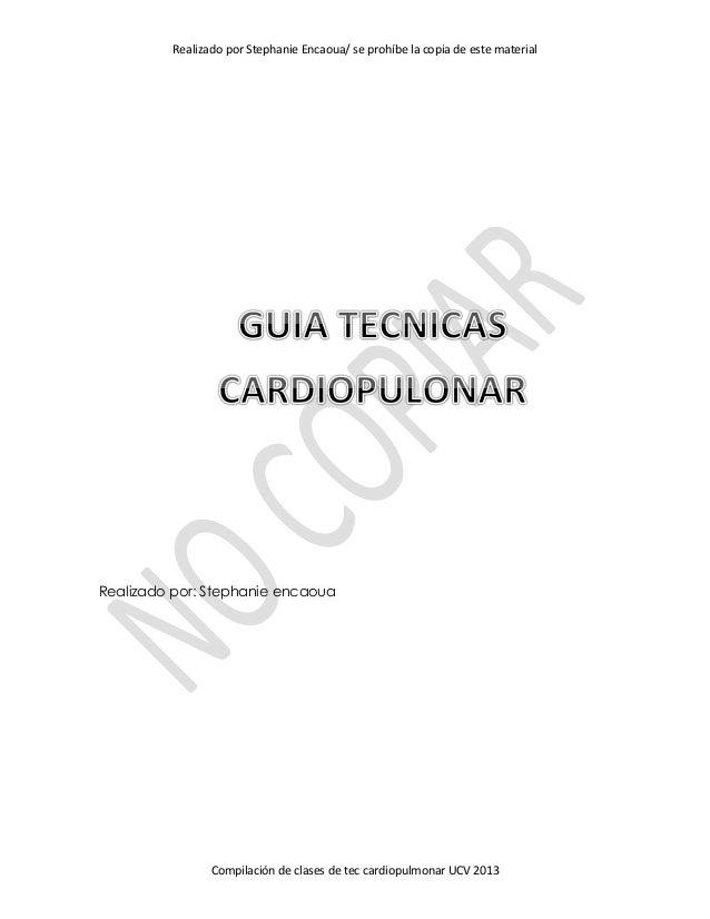 Guia tecnicas cardiopulmonar pdf for Tecnicas gastronomicas pdf