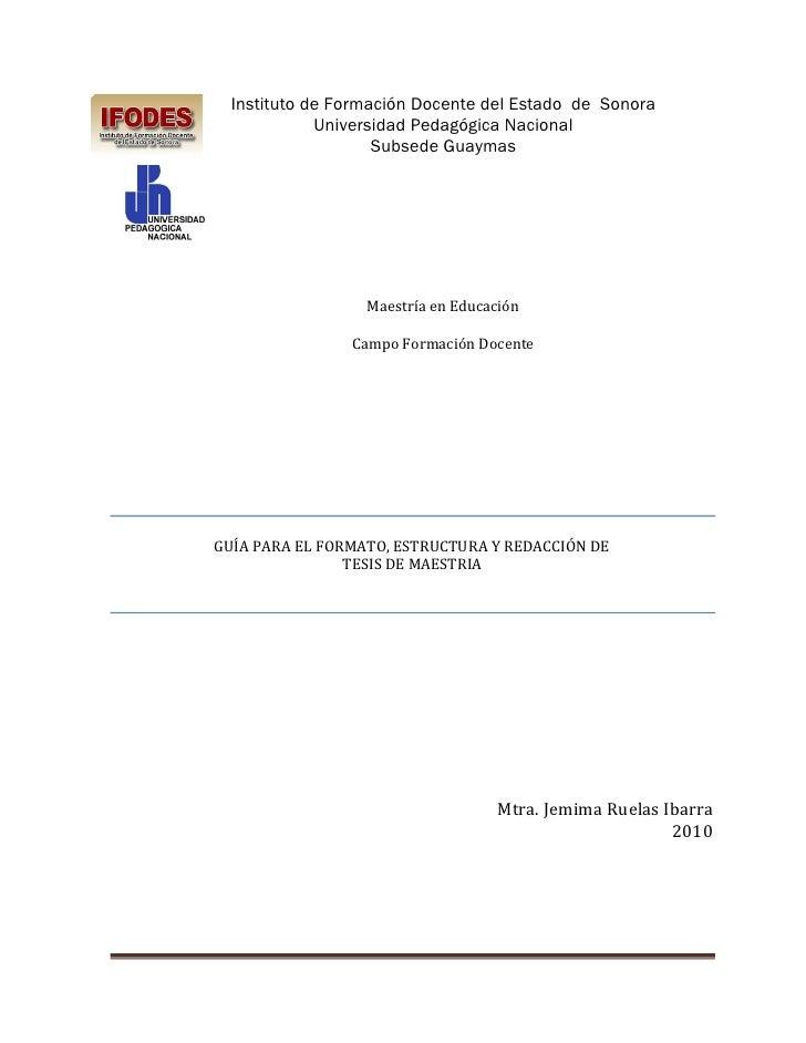 Instituto de Formación Docente del Estado de Sonora            Universidad Pedagógica Nacional                   Subsede G...