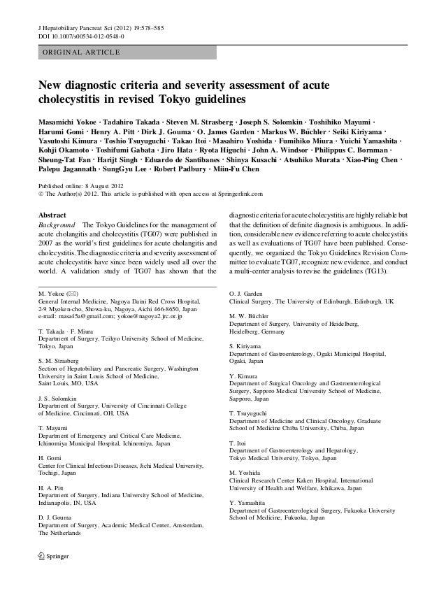 J Hepatobiliary Pancreat Sci (2012) 19:578–585  DOI 10.1007/s00534-012-0548-0  ORIGINAL ARTICLE  New diagnostic criteria a...