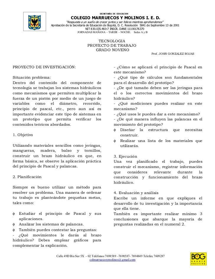 SECRETARÌA DE EDUCACION                                   COLEGIO MARRUECOS Y MOLINOS I. E. D.                            ...