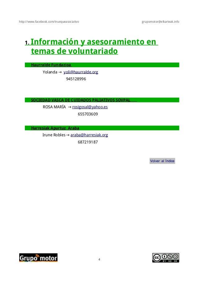 http://www.facebook.com/truequeasociativo grupomotor@elkarteak.info1. Información y asesoramiento entemas de voluntariadoH...