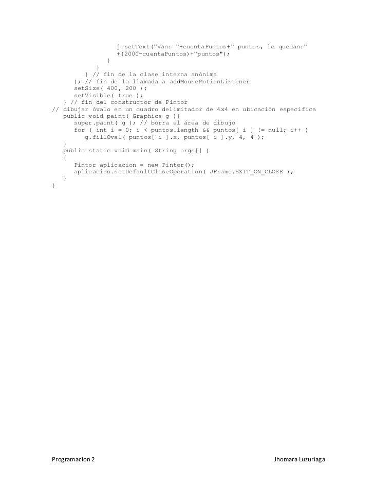 Programacion en JAVA 2