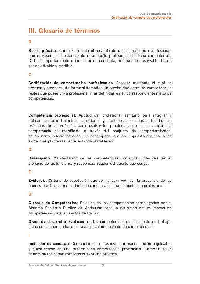 Guía del usuario para la Certificación de competencias profesionales
