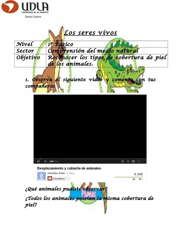 Karla CastroLos seres vivosNivel 1º BásicoSector Comprensión del medio naturalObjetivo Reconocer los tipos de cobertura de...