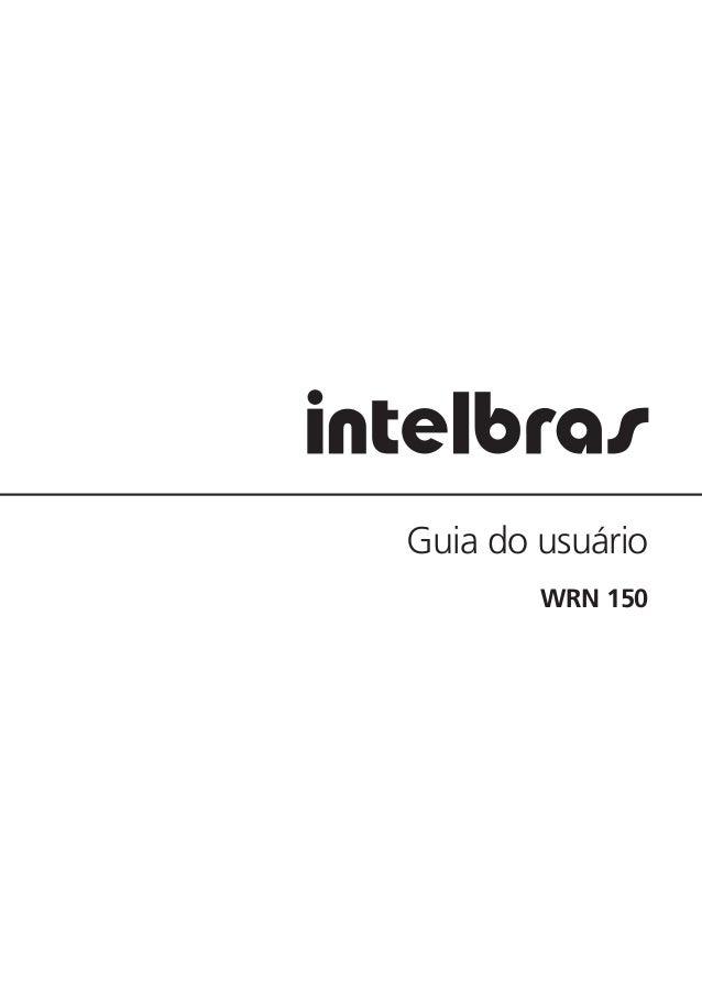 Guia do usuário WRN 150