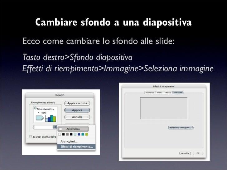 Modificare sfondo diapositiva powerpoint