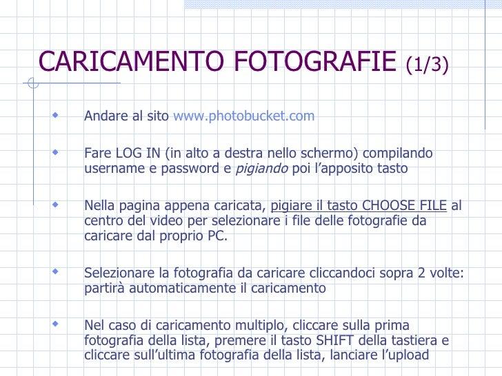 Guida per inserire fotografie su www.risorsalongevita.org Slide 3