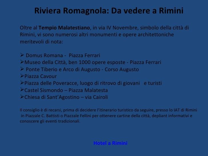 Cartina Riviera Romagnola.Guida Turistica Su Rimini