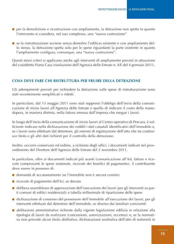 Guida agenzia entrate agevolazioni edilizie febbraio 2012 - Agevolazioni per ristrutturazione casa ...