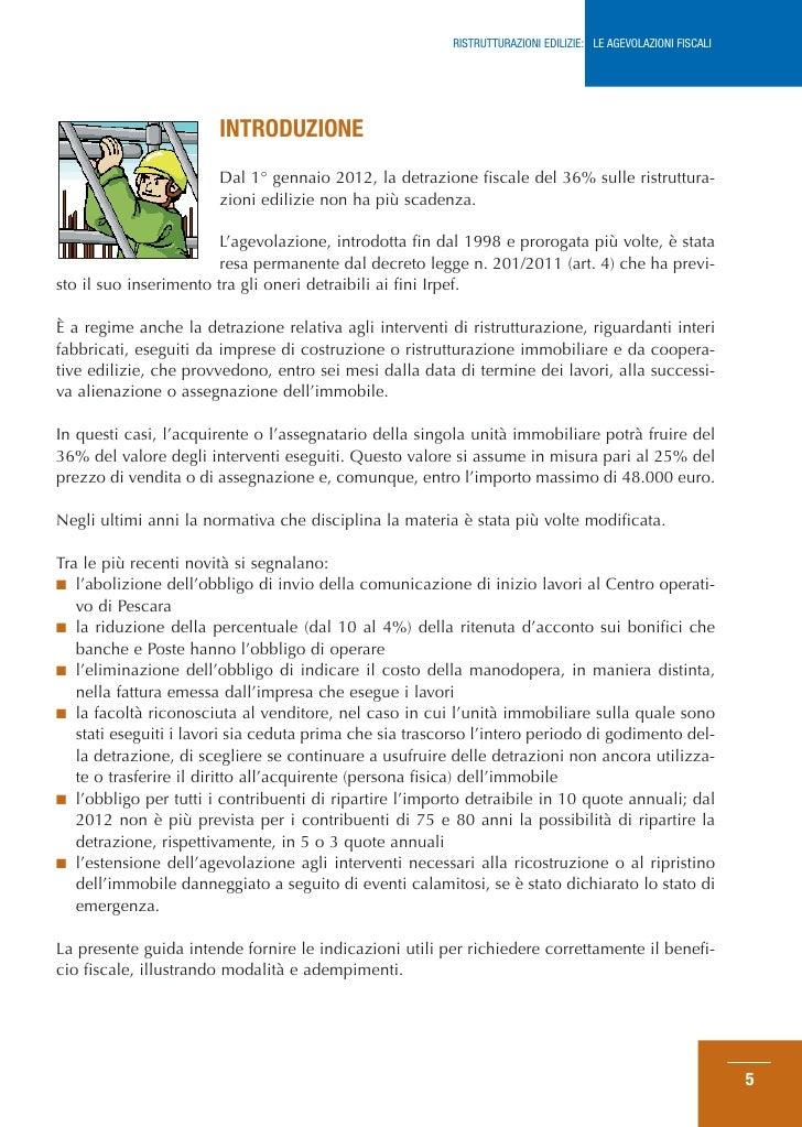 Guida agenzia entrate agevolazioni edilizie febbraio 2012 for Scadenza irpef