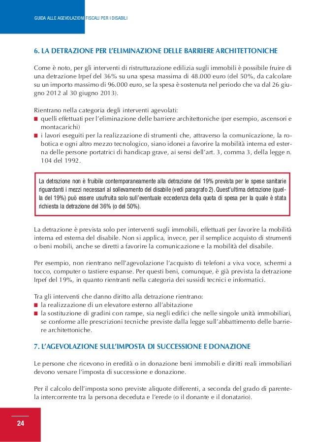 Guida agevolazioni fiscali per disabili 2013 - Guida fiscale ristrutturazione ...