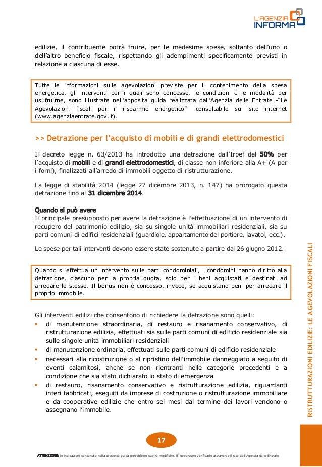 Guida agevolazioni fiscali ristrutturazioni edilizie for Agenzia delle entrate ristrutturazioni edilizie