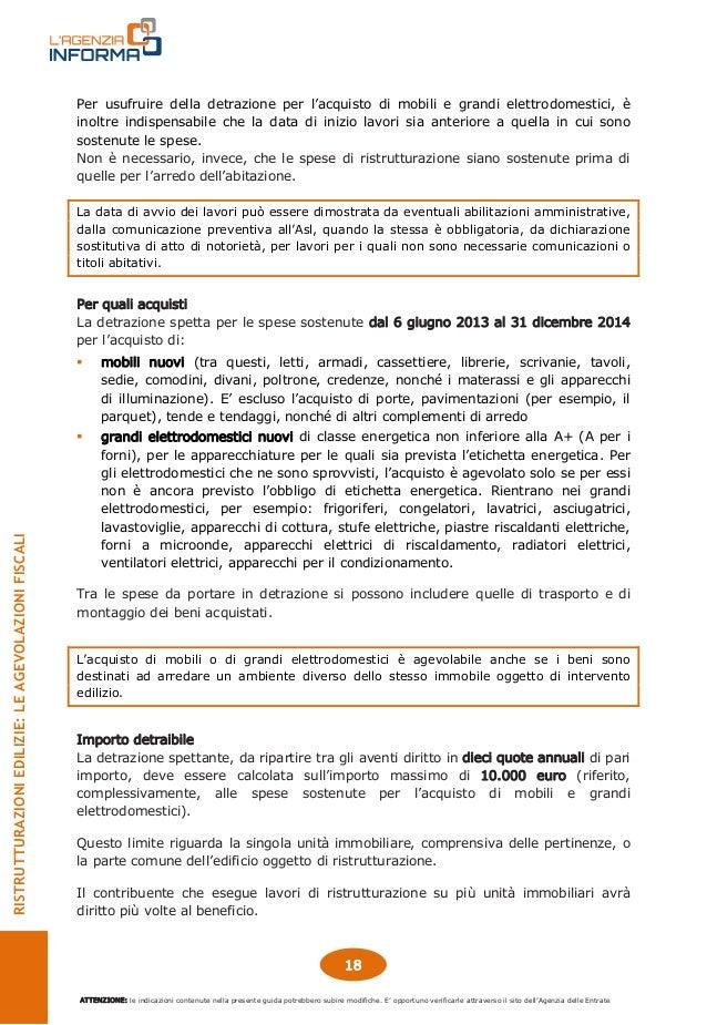 Guida agevolazioni fiscali ristrutturazioni edilizie for Agevolazioni acquisto mobili
