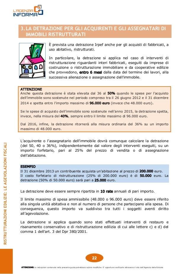 Guida agevolazioni fiscali ristrutturazioni edilizie - Esempio calcolo detrazione 50 ristrutturazioni ...