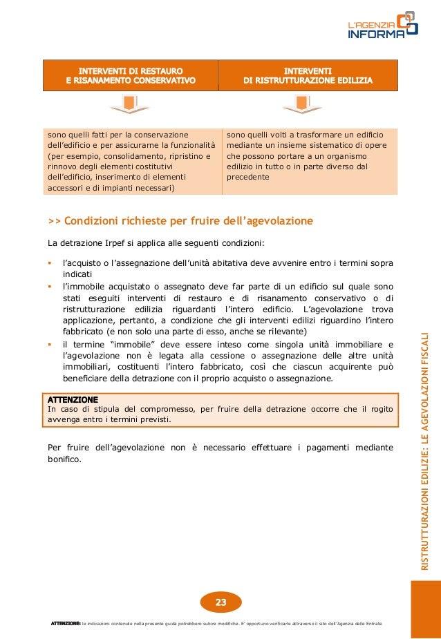Guida agevolazioni fiscali ristrutturazioni edilizie for Agevolazioni fiscali rimozione amianto agenzia entrate