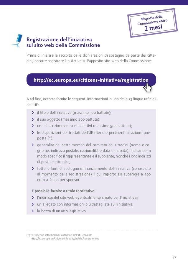 Condizioni         La registrazione non è automatica. Prima della registrazione ufficiale         dell'iniziativa e del su...