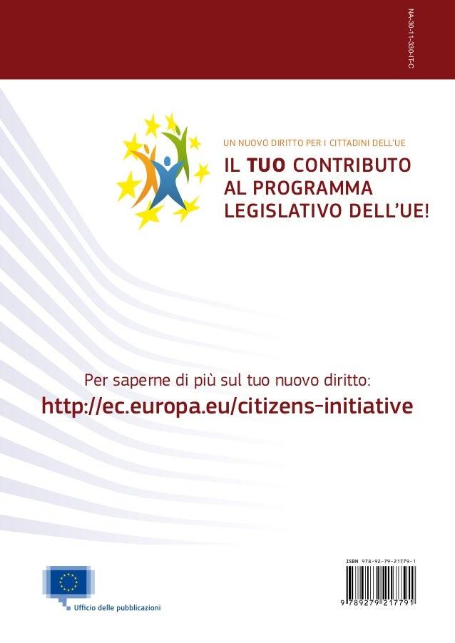 Guida al diritto di iniziativa dei cittadini europei