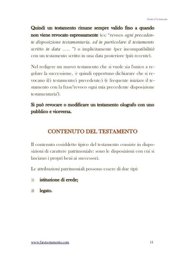 Guida Breve Quot Come Fare Testamento Quot Con Esempi Pratici