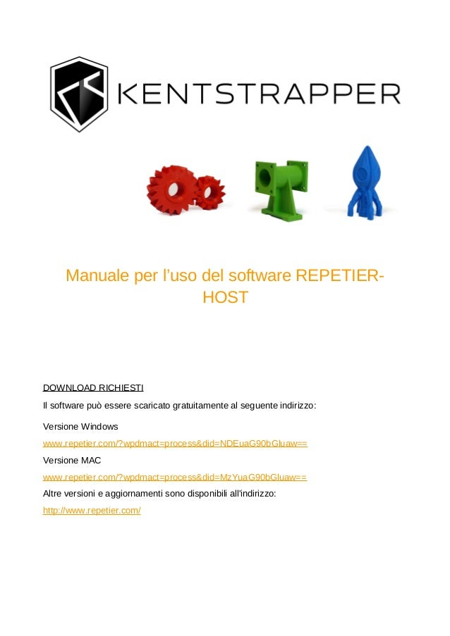 Guida a software repetier host stampa 3d kentstrapper for Programmi 3d free