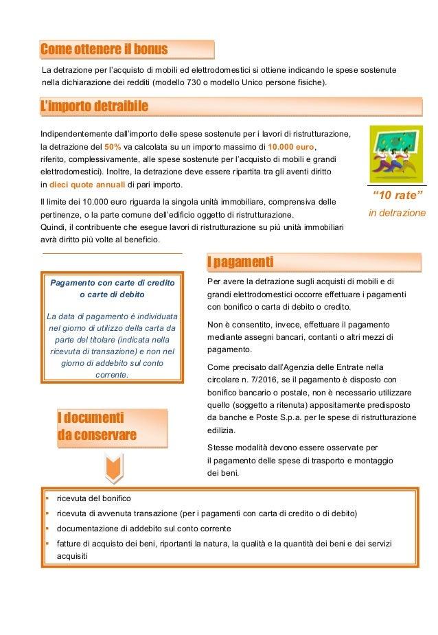 Agevolazioni fiscali per l 39 acquisto di mobili ed for Detrazione fiscale mobili