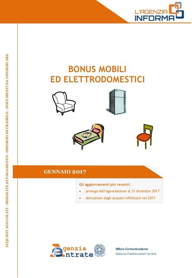 Guida bonus mobili 2017 for Bonus mobili 2017