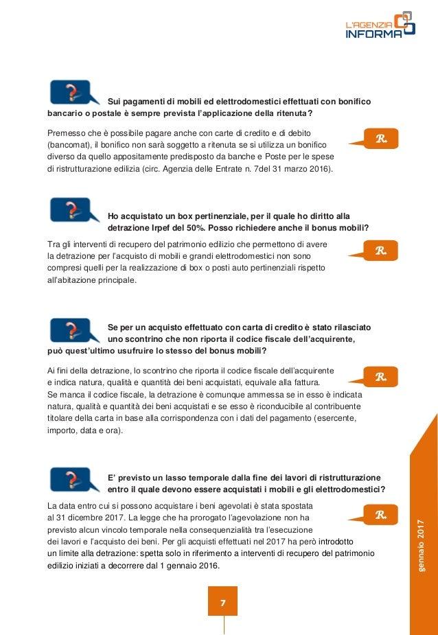 Detrazione fiscale mobili gallery of bonus mobili arredi for Detrazione arredi 2017