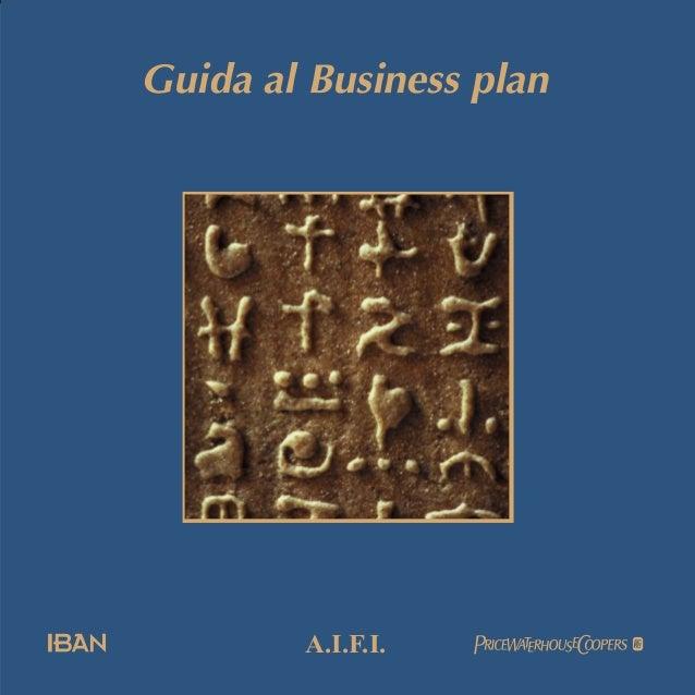 guida al business plan aifi 2002
