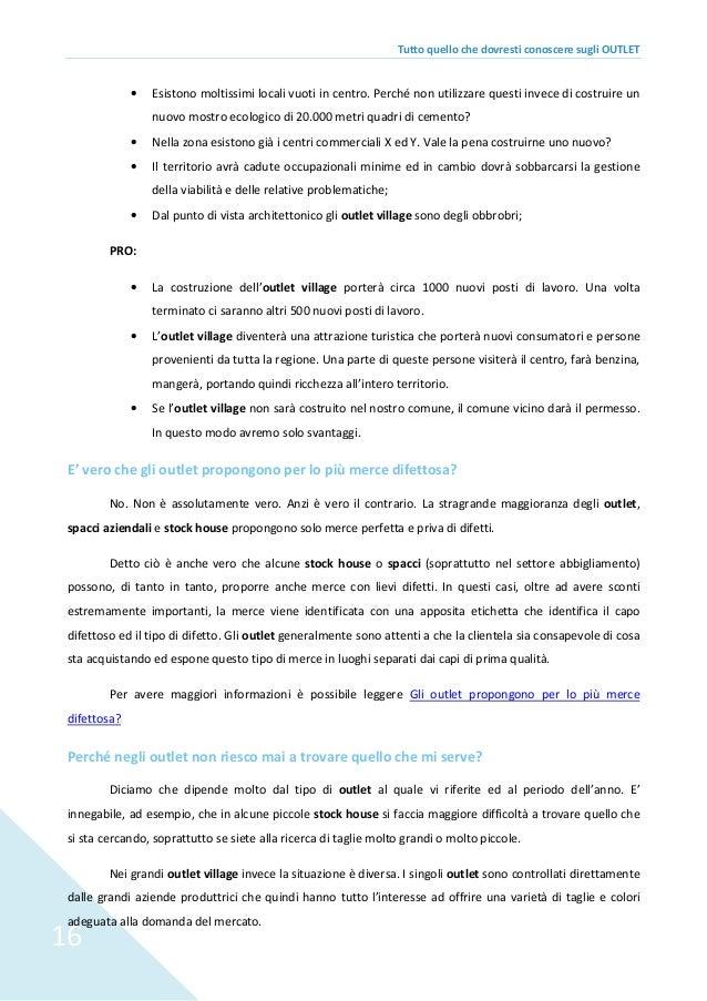 09b5f0515 Guida completa sugli outlet