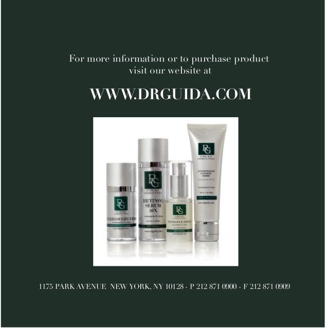 Guida Cosmeceuticals Skin Care Brochure