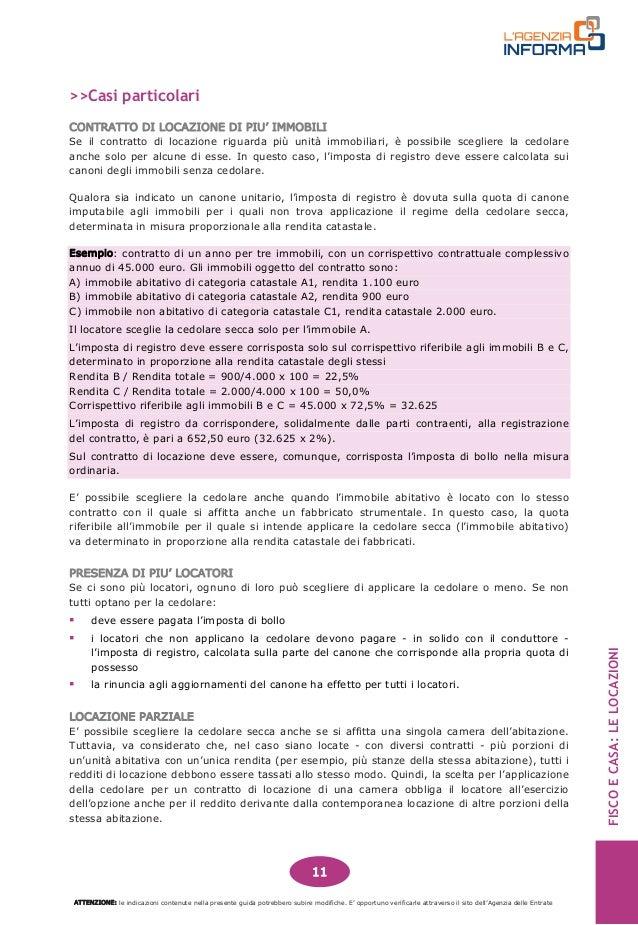 ... 12. FISCO E CASA: LE LOCAZIONI CONTRATTO DI LOCAZIONE ...