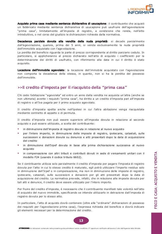 Guida fiscale acquisto e vendita casa - Usucapione casa ...