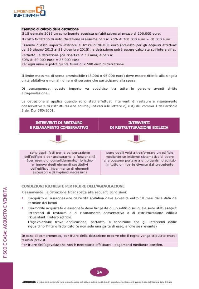 Guida fiscale acquisto e vendita casa - Guida fiscale ristrutturazione ...