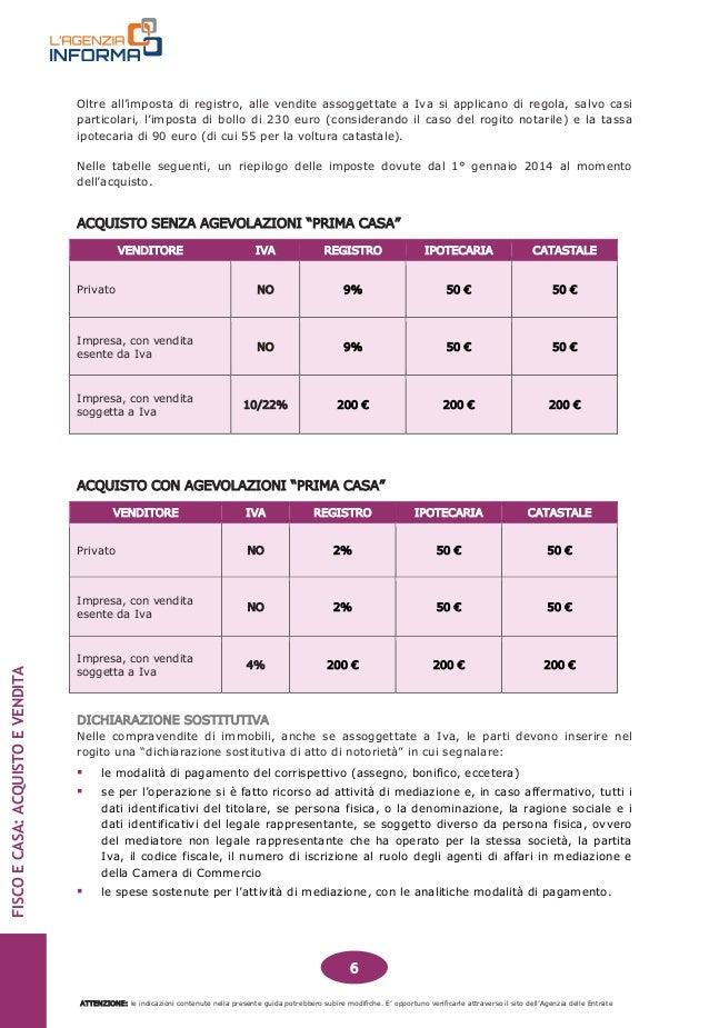 Guida fiscale acquisto e vendita casa - Iva acquisto seconda casa ...