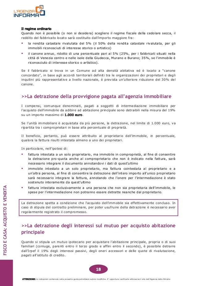 Immobiliare guida fisco e casa acquisto e vendita 201412 - Percentuale agenzia immobiliare tecnocasa ...