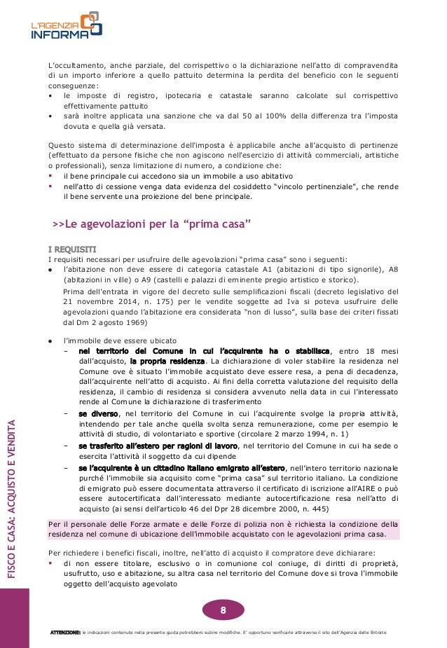 Tassa acquisto prima casa free liberamente with tassa - Calcolo imposte acquisto prima casa ...