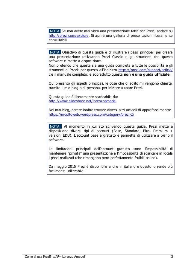 Guida in italiano a Prezi (Classic) Slide 2