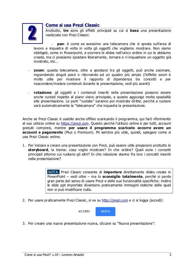Guida in italiano a Prezi (Classic) Slide 3