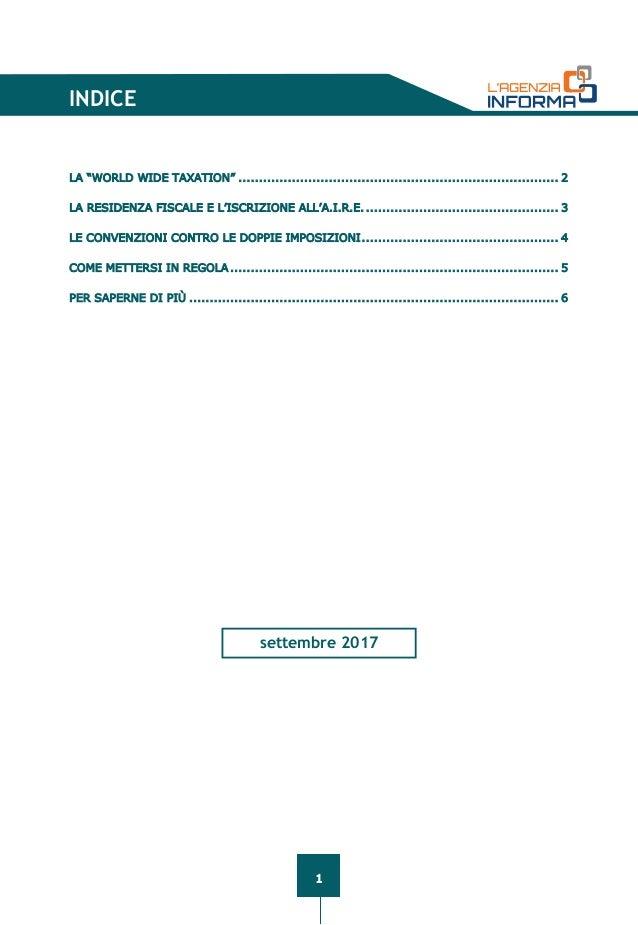 Guida Fiscale Dellu0027Agenzia Delle Entrate Per I Lavoratori Italiani  Allu0027estero