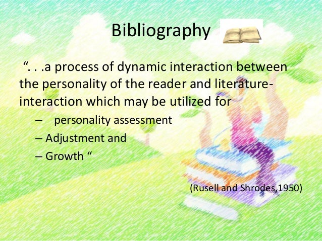 Bibliography• Provides a sensitive way for a practitioner oreducator, especially for children, to guidereading to help an ...