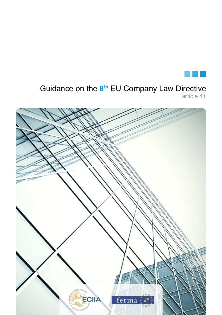 Guidance on the 8th EU Company Law Directive                                     article 41