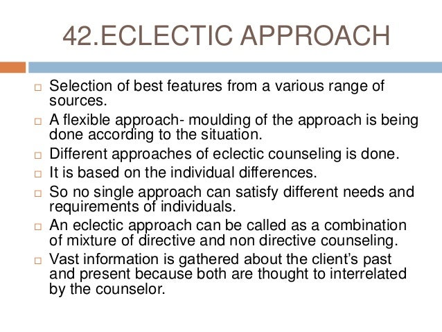 eclectic approach in counselling pdf