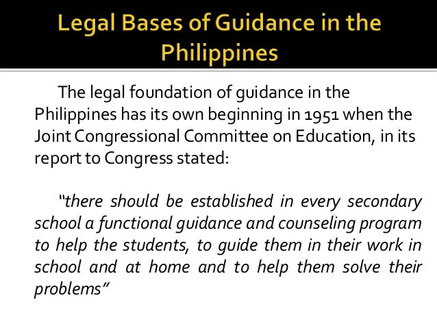 guidance and counseling in philippines Misconception of guidance counseling by gustavo ramirez, guidance counselor / education consultant many students (and some teachers) in belize tend to think of.