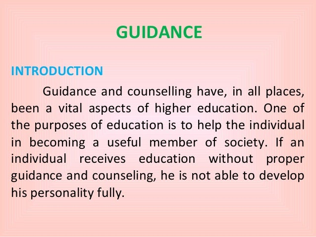 introduction to counseling and guidance pdf