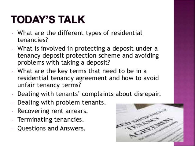Guidance For Residential Landlords And Tenants